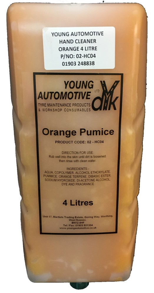 ORANGE PUMICE HANDCLEANER 4 LITRE CARTRIDGE