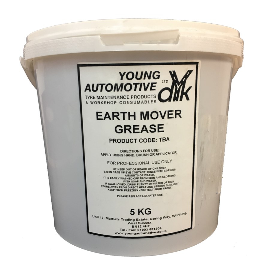 HARD EARTH MOVER GREASE 5KGS CLEAR