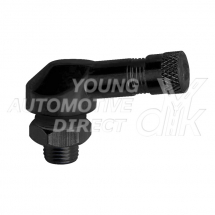 8.3MM BENT M/CYCLE VALVE ALUMINIUM 90 DEGREE BLACK