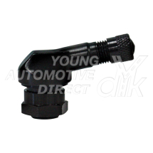 11.5MM BENT M/CYCLE VALVE ALUMINIUM 90 DEGREE  BLACK