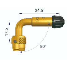RIGID BENT BRASS VALVE EXTENSION 90°