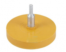 TOFFEE/CARAMEL ERASER PAD WHEEL WITH ARBOR