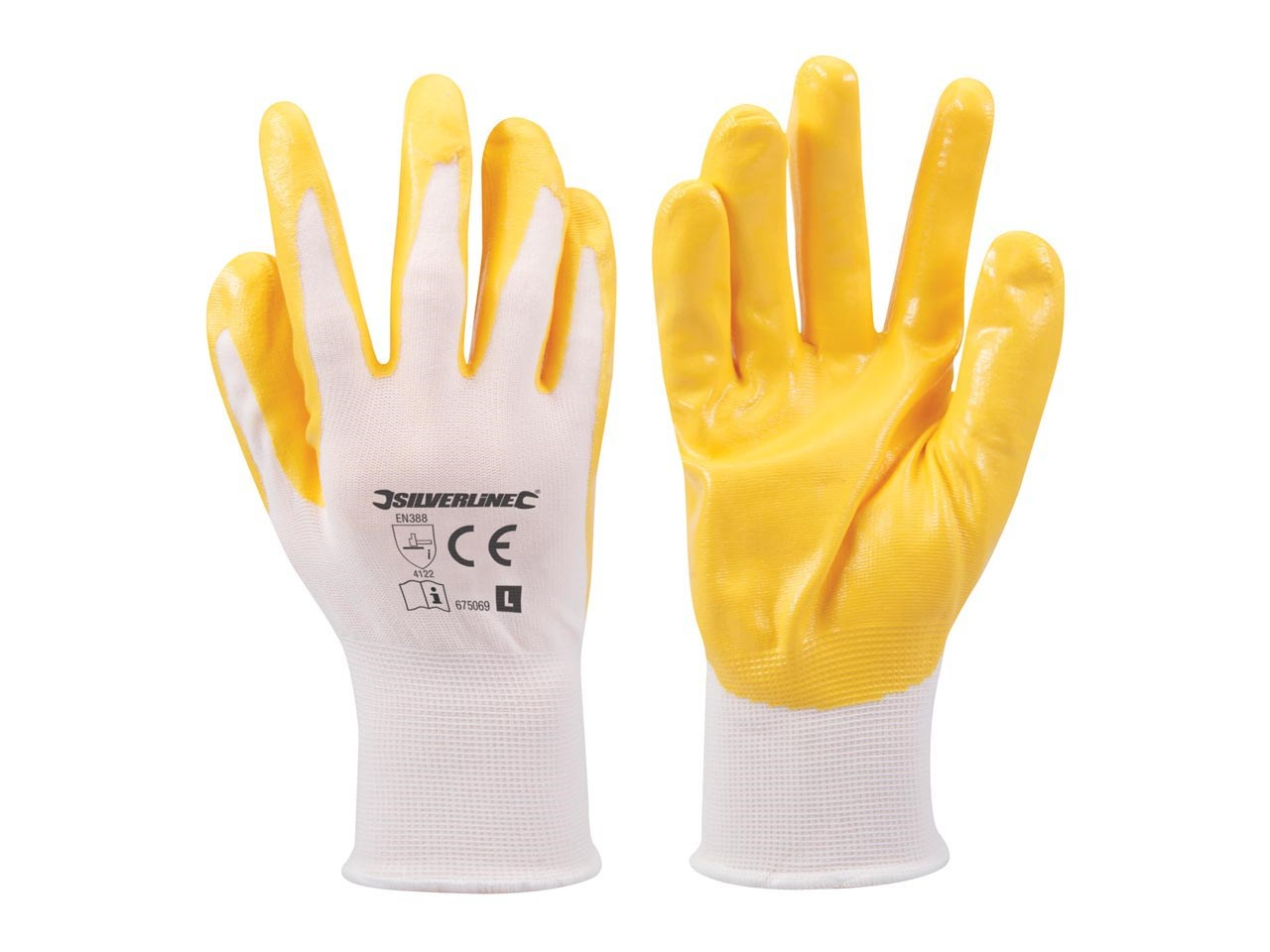SILVERLINE NYLON COAT NITRLE GLOVES LARGE