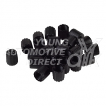 BOX OF 100 TPMS VALVE CAPS BLACK