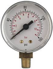 ATG7 PRESSURE GAUGE SMALL BOTTOM FEED R 1/4