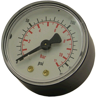 ATG8 PRESSURE GAUGE R 1/4 REAR FEED