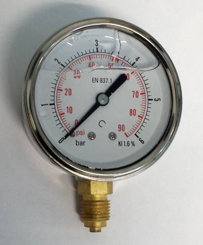G63020B9 GLYCERINE PRESSURE GAUGE BOTTOM FEED R 1/4