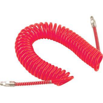 POLYURETHANE COILED AIR HOSE 2.5M LENGTH 6.5MM ID X 10MM OD