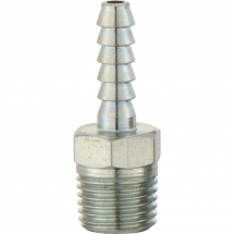 HOSE TAIL ADAPTOR MALE 1/4 NPT 6.35MM