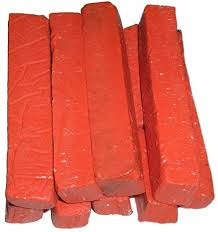 RED WAX CRAYON X 10