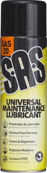 SAS20 UNIVERSAL PENETRATING OIL 500ML SPRAY