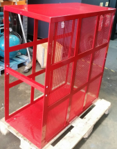 TRUCK TYRE SAFETY CAGE WITH MESH FRONT PANEL