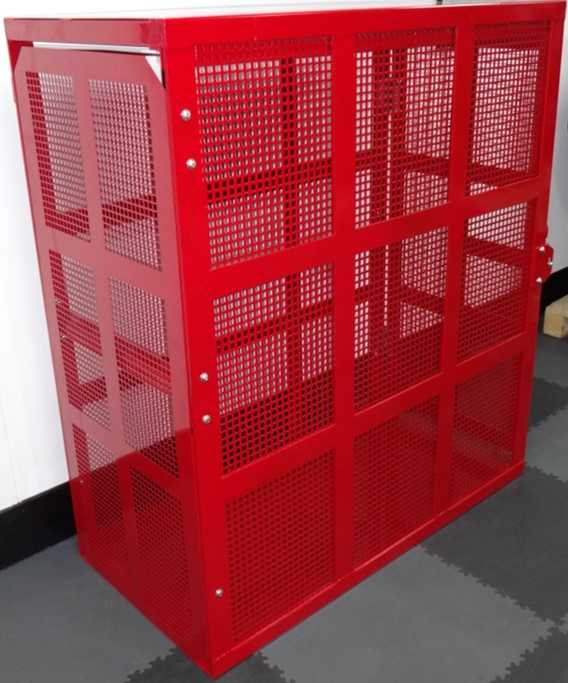 TRUCK TYRE SAFETY CAGE - FULLY ENCLOSED MESH
