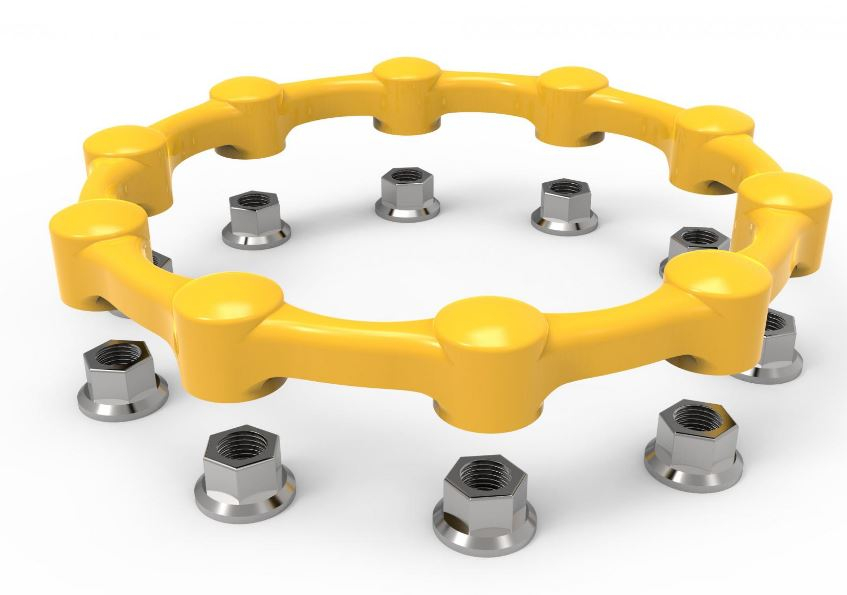 SAFEWHEEL YELLOW 24MM 6 STUD 245
