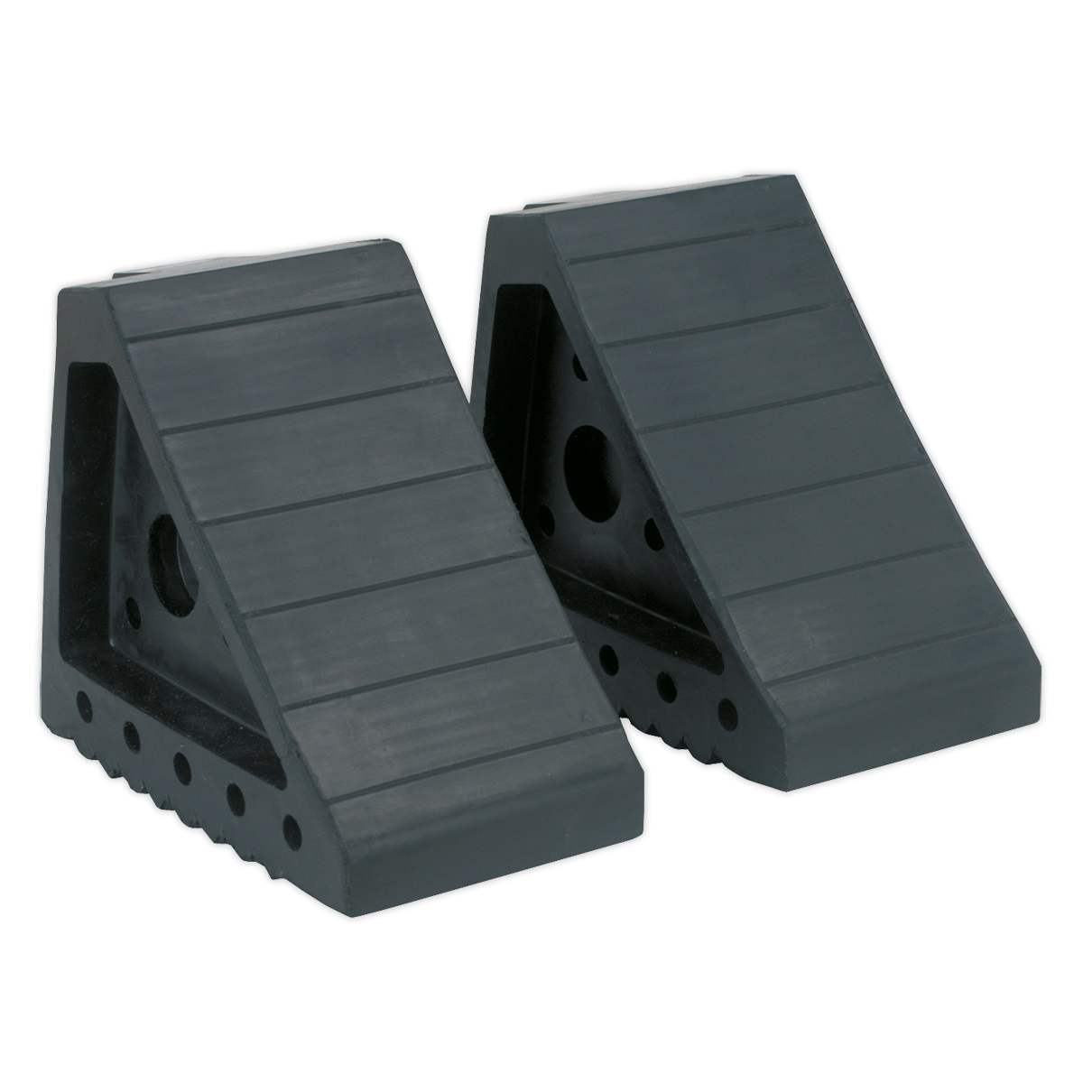 RUBBER WHEEL CHOCKS 1.8KG PAIR